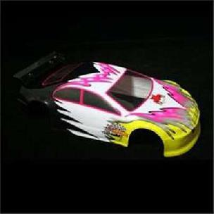 01012 1/10 200mm Onroad Car Body Pink and Yellow