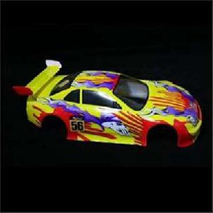 01014 1/10 200mm Onroad Body Yellow Flame
