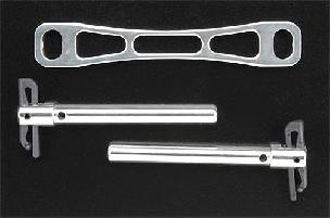 Alloy Front Body Mount Kit Silver T/E-Maxx T3622S