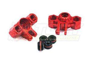 T3454RED Billet Machined Steering Block 1/16 E-Revo (2)